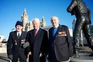Left to right: BOA veteran Jim Rainsford, Vice Admiral Mike Gretton campaign chairman, veteran Graeme Cubbin (Photo: Battle of the Atlantic Memorial Campaign)