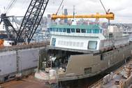The Kennewick ferry was completed at Harbor Island in Seattle in 2011.