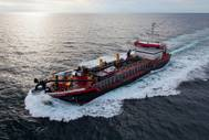 Weeks' new 350-foot hopper dredge, Magdalen, on her way to work (Photo: Weeks Marine)