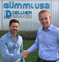Dellner Brakes CEO Marcus Aberg (right) and new vice president Edgar Roca outside the company's warehouse in Houston, Texas  (Photo: Dellner Brakes)