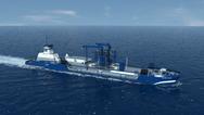 An artists depiction of a Q-LNG transport vessel (CREDIT: Harvey Gulf)