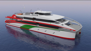 The 56m high speed catamaran to be built by Austal Philippines for FRS Group is an all new Austal design from the Australian based design team responsible for developing a portfolio of 22 similar-sized vessels. Photo Austal