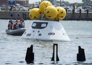 Spacecraft Orion recovery trial: Photo courtesy of USN