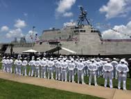 USS Gabrielle Giffords commissioning Port of Galveston June 10 2017 - U.S. Navy photo by Lt. Miranda Williams