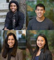 Pictured clockwise: Kainen Bell, Joshua Banks, Xuan Liao and Maninder Grewal (Photo: Crowley)
