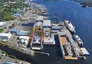 Alaska Ship & Drydock: current view & planned development. (Image courtesy: Vigor.com)