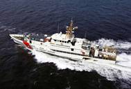 Sister ship of the USCGC Joseph Tezanos, USCGC Margaret Norvell operating in the U.S. Gulf of Mexico. (Photo: Bollinger Shipyards)