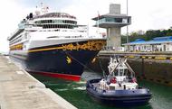 Disney Cruise Lines Disney Wonder transiting the Agua Clara Locks in April 2017. (Photo: ACP)