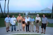 Left to right: Jimmy Burgin, AEU; Pat O'Driscoll, Levin Enterprises, Inc.; Randy Rader, RBT Welders, LLC; Nichole DeGidio, 1st Flagship, Inc.; Simon Lee, Keppel AmFELS LLC; Gus Cagigas, Diversified Port Holdings, LLC; Steve White, McGriff Seibels & Williams, broker for Linea Peninsular, Inc.; and Mike Lapeyrouse, AEU