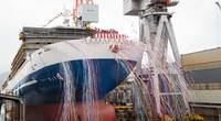 "Christening and Launch Ceremony of ""FERRY KYOTO"". Photo courtesy Mitsubishi Shipbuilding Co., Ltd."