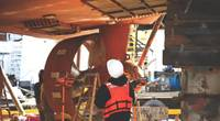 USCG marine inspectors at Marine Safety Unit Portland inspect a tug in Portland, Ore. (U.S. Coast Guard photo by Paige Hause)