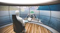 DNV GL Virtual Bridge Cargo vessels without a superstructure could one day be controlled from a virtual bridge on land. (Photo courtesy of DNV GL / Rolls-Royce)