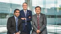 Ashish Anilan (left) - Sustainability Leader, in BV's Southeast Asia Zone; David Barrow (standing) - Vice President, Marine & Offshore, South Asia Zone; Koh Shu Yong (right) - Director of iCARE (Photo: Bureau Veritas)