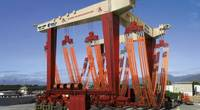 Bayonne Drydock has taken delivery of a 1280T MBH (Marine Boat Hoist) designed and delivered by Cimolai. (Photo: BDDRC)