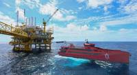 Damen FCS 7011 CMM at oil rig (Photo: Damen Shipyards)