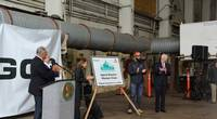 Vigor Industrial and Washington State Ferries launched WSF's new hybrid-electric ferries program in a ceremony held at Vigor's Seattle, Washington shipyard held September 9. (Photo: Vigor Industrial LLC)