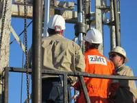 Technicians at the company's well installation in California Photo Zilift