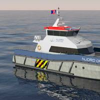 20 metre catamarans designed by ship designer BMT Nigel Gee.
