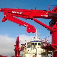 M350EL hydraulic elbow knuckle-boom marine crane on the Awaritse Nigeria Ltd vessel Prince Job I (Photo: Sormec)