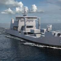 3D Image of Logistics Support Vessel HHI to Build Under New Zealand Defence Force's MSC Project. Photo: Hyundai Heavy Industries