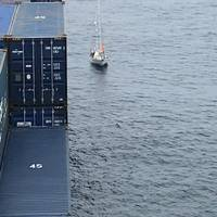 A 67-year-old-man man was taken aboard the President Eisenhower after the containership's master responded to a Coast Guard request for a vessel in the area to assist. (U.S. Coast Guard courtesy photo)