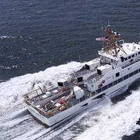 A Bollinger-built Fast Response Cutter underway on sea trials in the Gulf of Mexico (Photo courtesy of Bollinger)