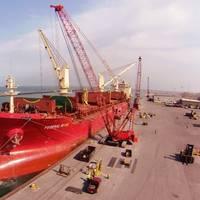 A bulk carrier alongside the pier (File photo: FedNav)