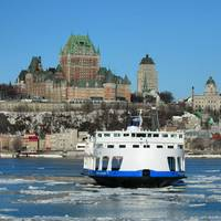 A Canadian Ferry underway in light ice conditions. (Courtesy of CFOA)