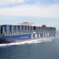 A CMA CGM boxship underway in a file image (CREDIT: CMA CGM)