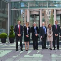 A delegation from Norway, including State Secretary Dilek Ayhan (4th from the right), met with Tor Svensen, CEO DNV GL – Maritime (5th from the right) and the senior management team at the DNV GL maritime headquarters in Hamburg today.