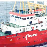 A Fugro survey vessel: Photo courtesy of Fugro