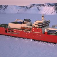 A graphic of the new icebreaker (Image: Damen/DMS Maritime/Knud E Hansen A/S)