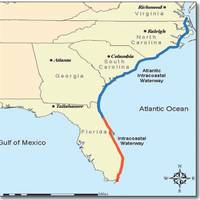 A map of the Atlantic Intracoastal Waterway (AIWA)