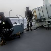 A Nigerian boarding team during a simulated hijacking scenario (File photo: Luis R. Chavez Jr. / U.S. Navy)