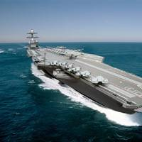 A photo illustration of the aircraft carrier John F. Kennedy (CVN 79).
