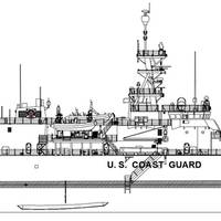 A rendering of the Offshore Patrol Cutter