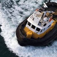 A tugboat underway with PPG PSX coatings. CREDIT: PPG