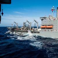 A U.S. Navy (MSC) fleet oiler underway. (CREDIT: USN)