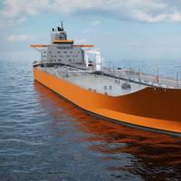 Aframax tanker design: Rendering by Wärtsilä