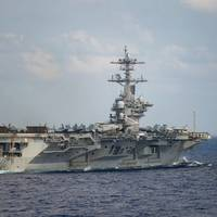 Aircraft carrier USS Theodore Roosevelt (CVN 71) in the Indo-Pacific on March 18, 2020. (U.S. Navy photo by Nicholas V. Huynh)