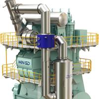 Alfa Laval PureCool, part of WinGD's iCER technology on WinGD X-DF engines (Image: Alfa Laval)