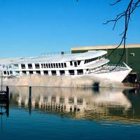 American Melody being launched into the Wicomico River at Chesapeake Shipbuilding, Salisbury, Md. (Photo: American Cruise Lines)