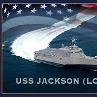 An artist rendering of the littoral combat ship USS Jackson (LCS 6). (U.S. Navy photo illustration by Jay M. Chu/Released)