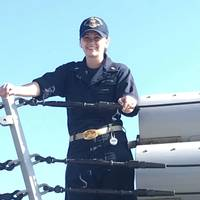 An undated file photo of Ensign Sarah Mitchell, who died from injuries sustained aboard the guided-missile destroyer USS Jason Dunham (DD 109), July 8, 2018. (U.S. Navy photo)