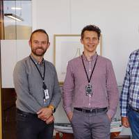 Anders Holme, CTO, Jacek Maszota, manager of Poland offices, and NAVTOR CEO Tor Svanes. (Photo: NAVTOR)