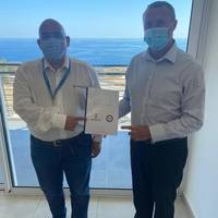 Andrea Lodolo, CEO of MaritimeMT (left) and Kevin Keeler, International Sales Director of ISTC (right) at MaritimeMT's Center. (Photo: MaritimeMT)