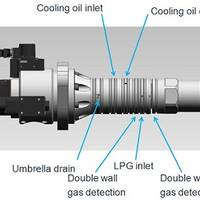 Annotated diagram of the new fuel booster valve showing the main constituent parts