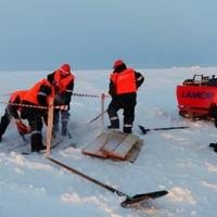 Arctic oil spill clean-up training: Photo credit Gazprom