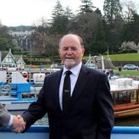 Arjen van Elk  (Sales Manager UK, Damen Shipyards Group), Bill Bewley (Chairman, Windermere Lake Cruises). Pic: Damen Shipyards Group