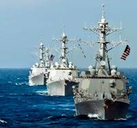 Arleigh Burke Class Destroyers: Photo credit USN